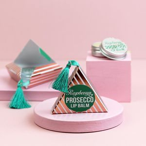 Prosecco Lip Balm In Tasselled Gold Gift Box