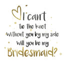 I can't tie the knot card