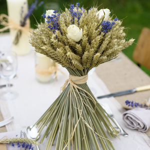 Rose And Lavender Wheat Sheaf - flowers