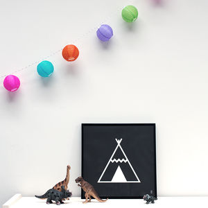Teepee Poster - children's room