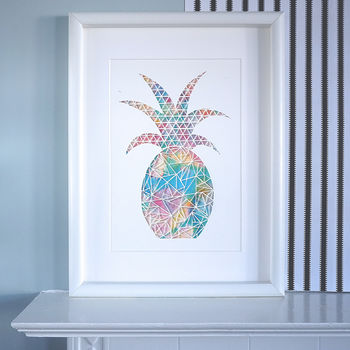 Tropical Pineapple Print | Wall Art