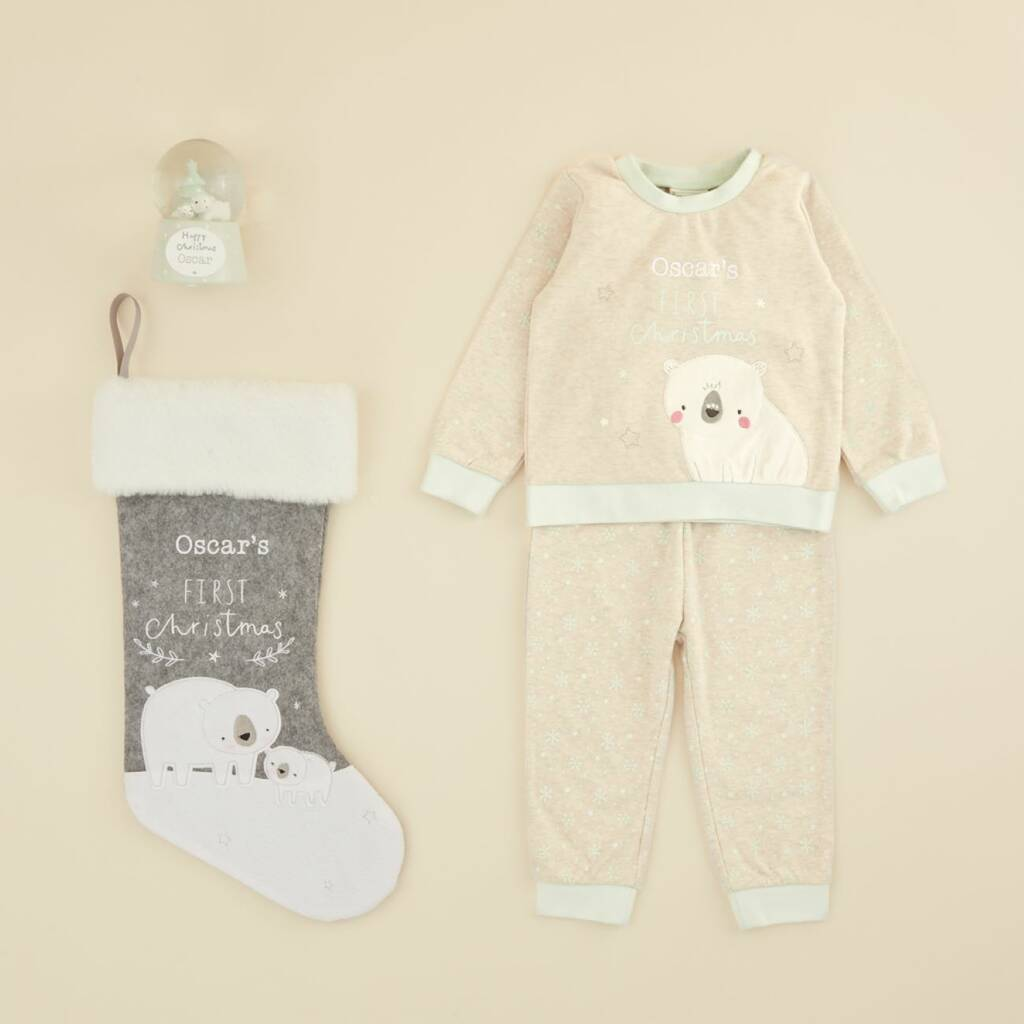 Personalised Baby's 1st Christmas Gift Set By My 1st Years ...