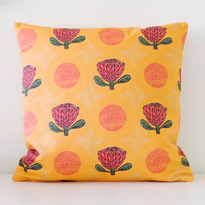 Exotic Protea Flower Handmade Cushion Cover - bedroom