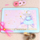 Blue Mousie Ballerina Placemat