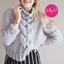 Cropped Cable Knit Jumper Knitting Kit