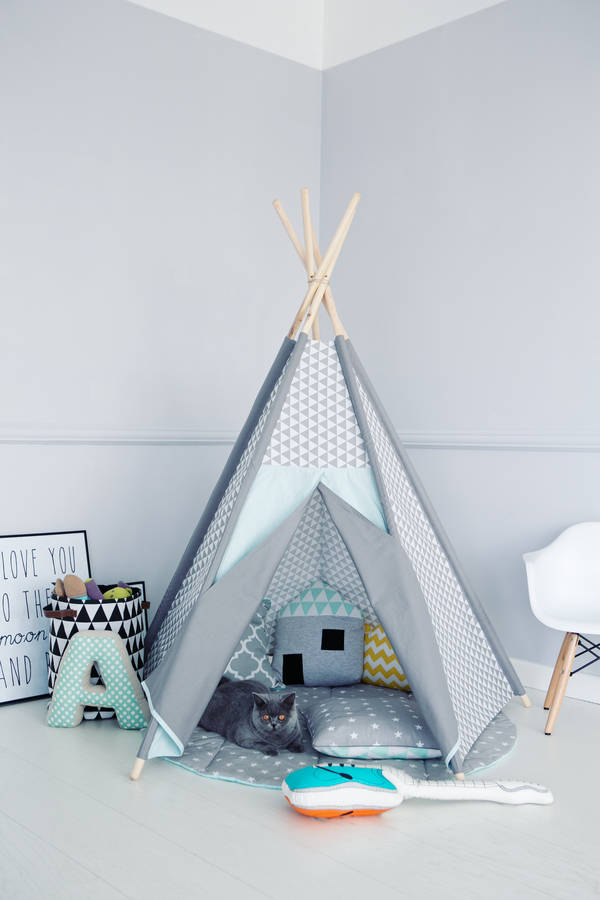 geometric frosty teepee by littlenomad. Black Bedroom Furniture Sets. Home Design Ideas
