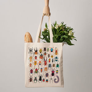 Beetles Canvas Tote Bag