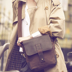 Waxed Canvas And Leather Crossbody Bag - womens