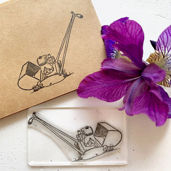 Lawnmower Rubber Stamp