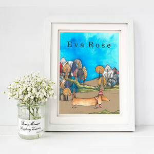 Personalised On A Walk Fine Art Print