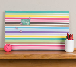 Multi Stripe Magnetic Noticeboard