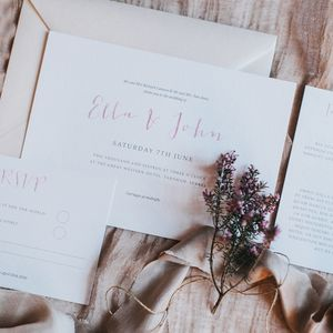 Love Story Wedding Invitation Set - save the date cards
