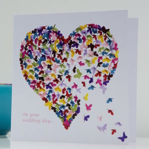 Wedding Butterfly Heart Kaleidoscope Card
