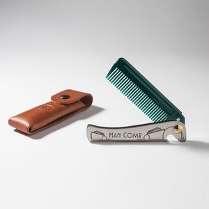 Special Edition Man Comb With Leather Case