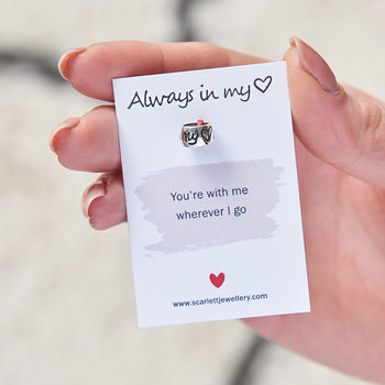 Always In My Heart Solid Silver Mojo Charm
