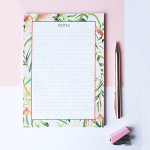 A5 Sorbet Flamingo Notepad - writing
