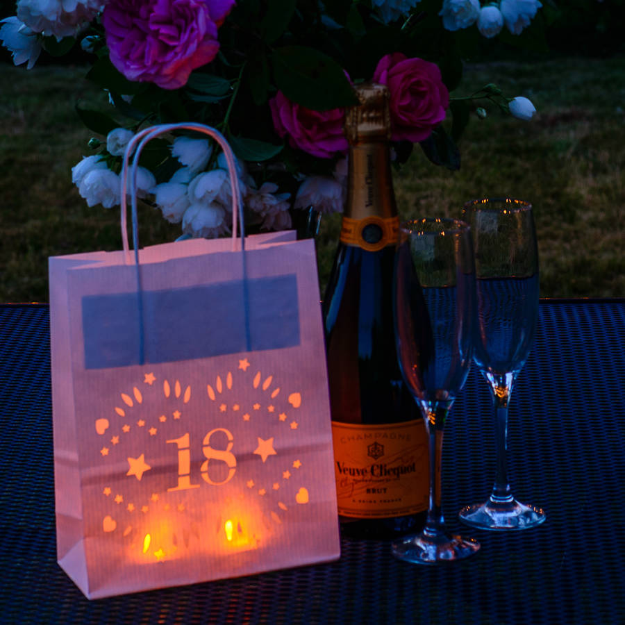 18th Birthday Party Decoration Lantern Bag