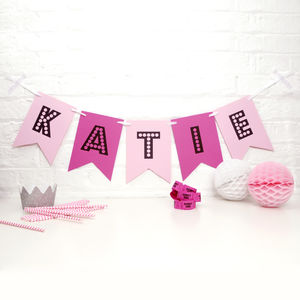Personalised Birthday Party Bunting - children's room