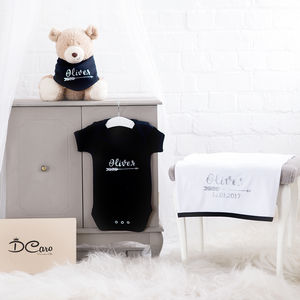 Personalised Black Arrow 100% Cotton Gift Set - new in home