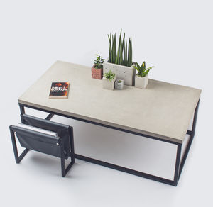 Concrete Coffee Table - coffee tables