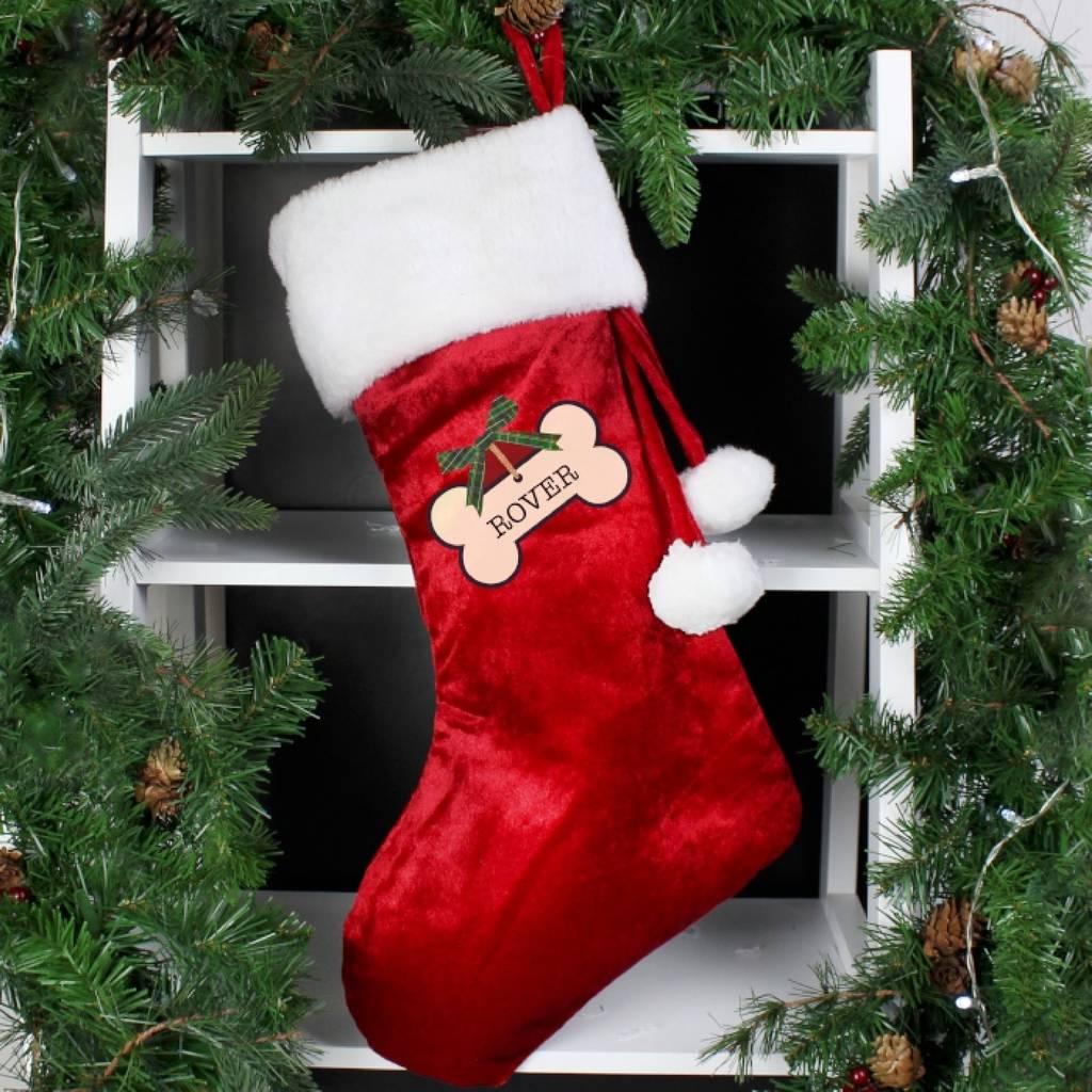 Personalised Christmas Dog Stocking