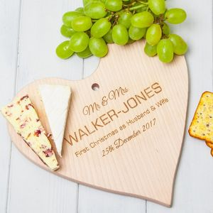Personalised Heart Chopping Board Or Cheese Board - cheese boards & knives