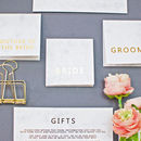 Marble And Gold Wedding Place Cards