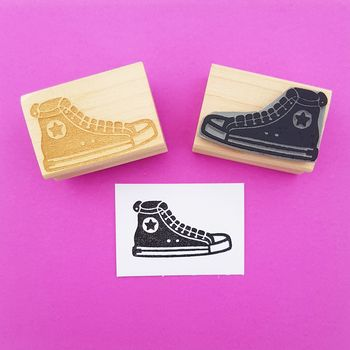 Baseball Boot Rubber Stamp
