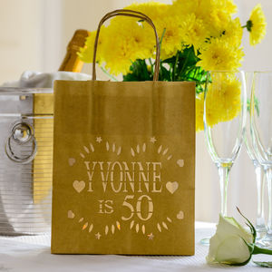 Personalised Birthday Lantern Bags Name And Age