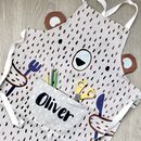 Personalised Bear Kids Apron
