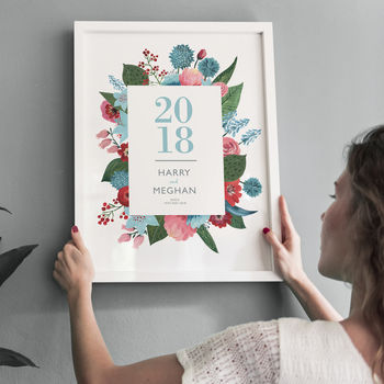 Personalised Wedding Or Anniversary Celebration Print