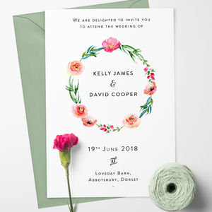 Boho wedding invitation by confetti designs notonthehighstreet stopboris Choice Image