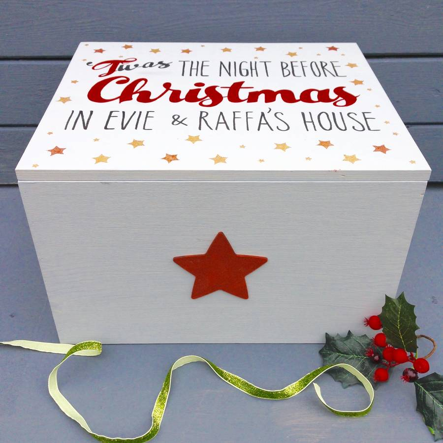 Personalised Family Christmas Eve Chest By Potting Shed