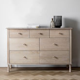 Asta Oak Seven Drawer Chest - bedroom