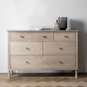 Asta Oak Seven Drawer Chest - furniture