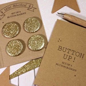 Small Glitter Badges, Pack Of Four - bag charms