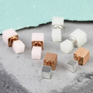Double Cube Earrings - on trend: earrings