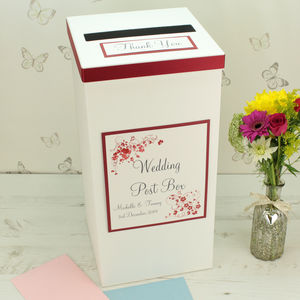 Personalised Jessica Wedding Post Box - room decorations