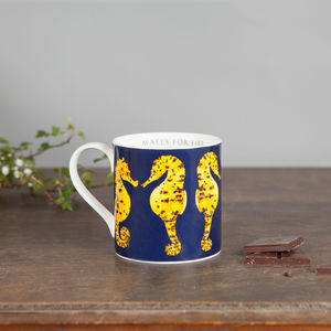 Large Bone China Seahorse Mug