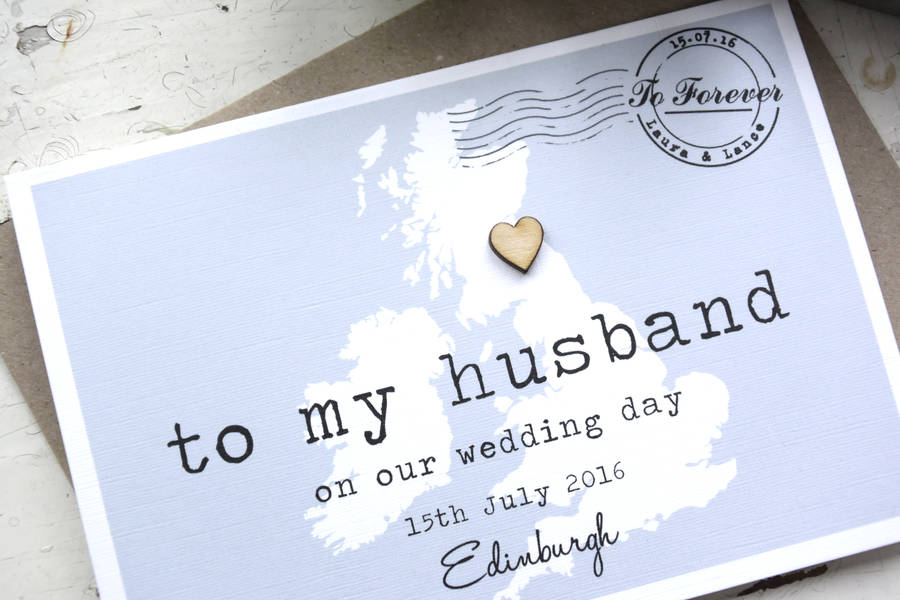 Personalised To My Husband On Our Wedding Day Card