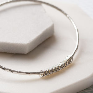 21 Silver Rings Bangle - 21st birthday gifts