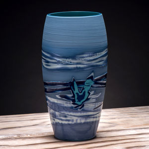 Handmade Coast Series Blue Vase - kitchen