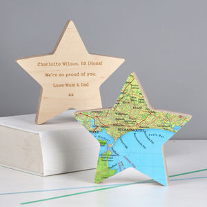 Map Location Star Graduation Gift Ornament - graduation gifts