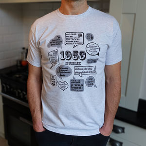 'Events Of 1959' 60th Birthday Gift T Shirt