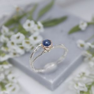Sapphire Woodland Twig Ring Sapphire Engagement Ring - rings