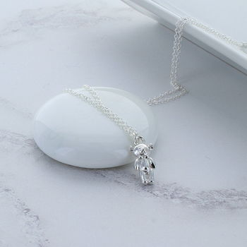 Little Teddy Sterling Silver Necklace