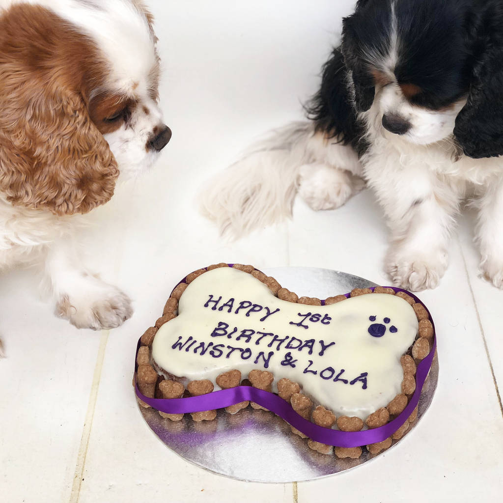 bone dog birthday cake by arton co notonthehighstreetcom