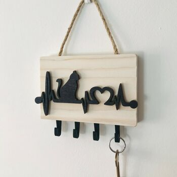 Cat Themed Key Rack