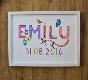 Children's Name Painting - paintings