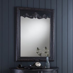 Black Vintage Ornate Wall Mirror